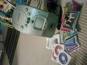 Headrush Karaoke Machine with CD's and Microphone