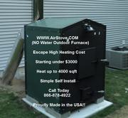 OUTDOOR FORCED AIR WOOD FURNACE